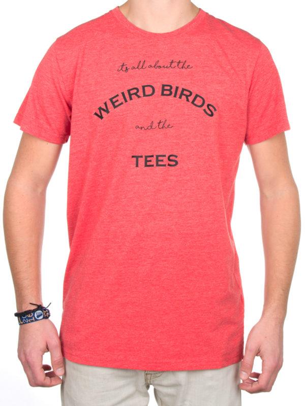 T-shirt 'birds and tees' Spotted Red