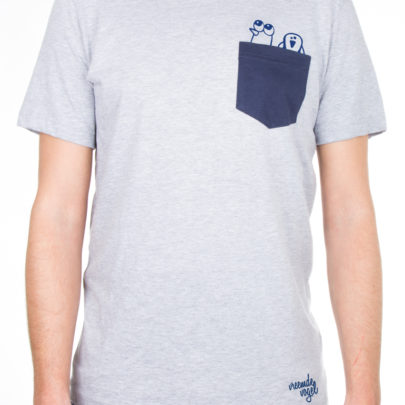 Pocket T-shirt Birds grijs t shirt fashion heren vogel