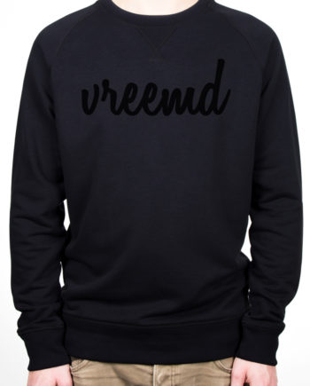 Sweater vreemd zwart hip fashion trui colourful rebel